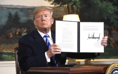 President Trump signs doctrine to withdraw from Iran nuclear deal.