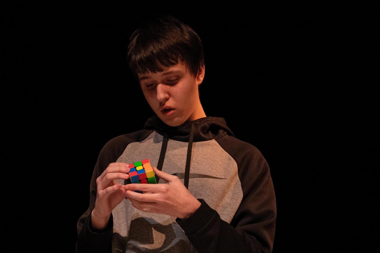 Matty+Connor+dominates+his+timed+nail-biting+Rubik%27s+cube+act.