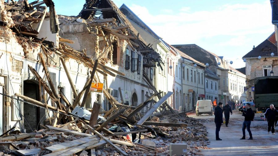 Town of Petrinja, Croatia after the earthquake of December 2020. Photo Courtesy of New York Times.