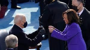 President Joe Biden and Vice President Kamala Harris celebrate their win. (Photo Courtesy of KXAN Austin.)